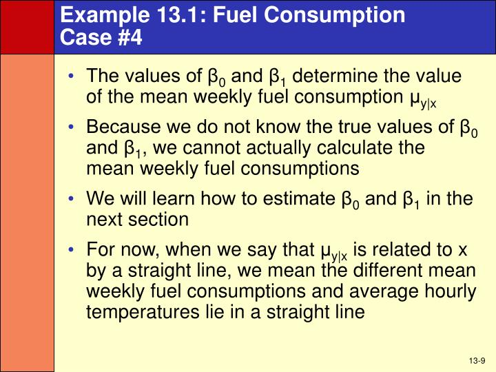 Example 13.1: Fuel Consumption