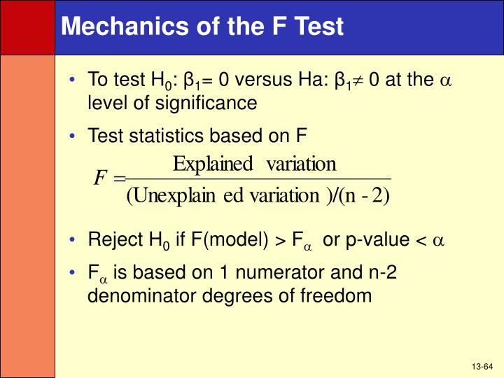 Mechanics of the F Test