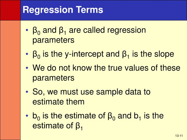 Regression Terms