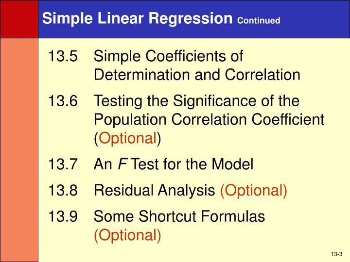 Simple linear regression continued