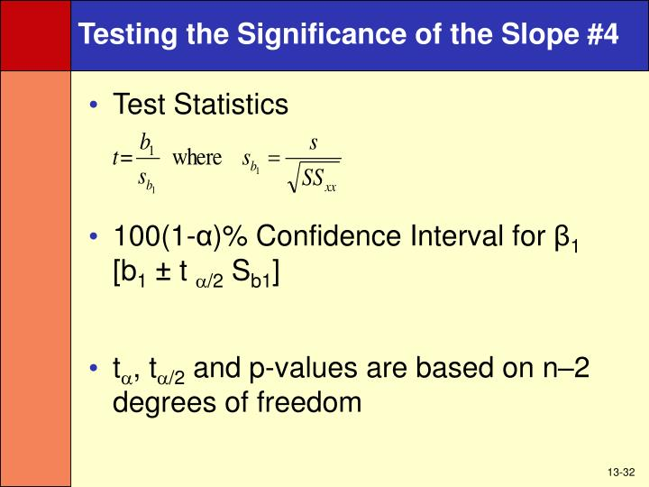Testing the Significance of the Slope #4