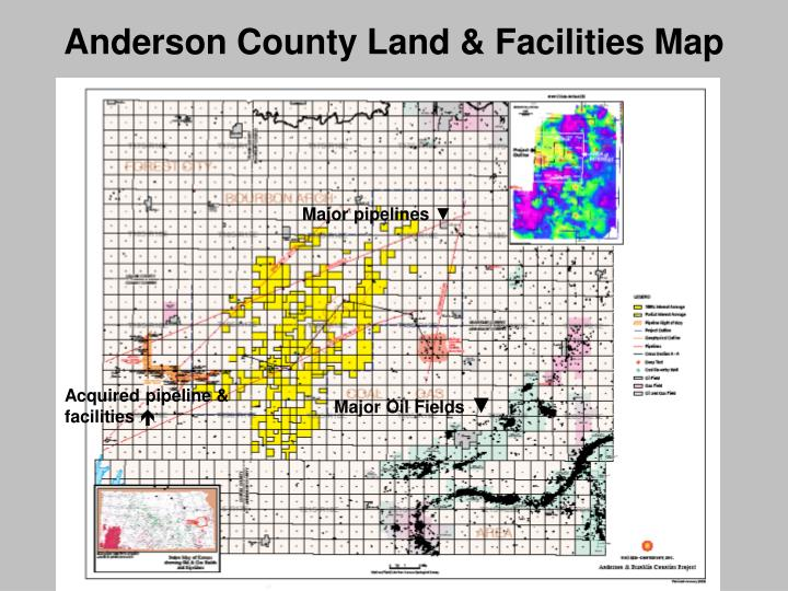 Anderson County Land & Facilities Map