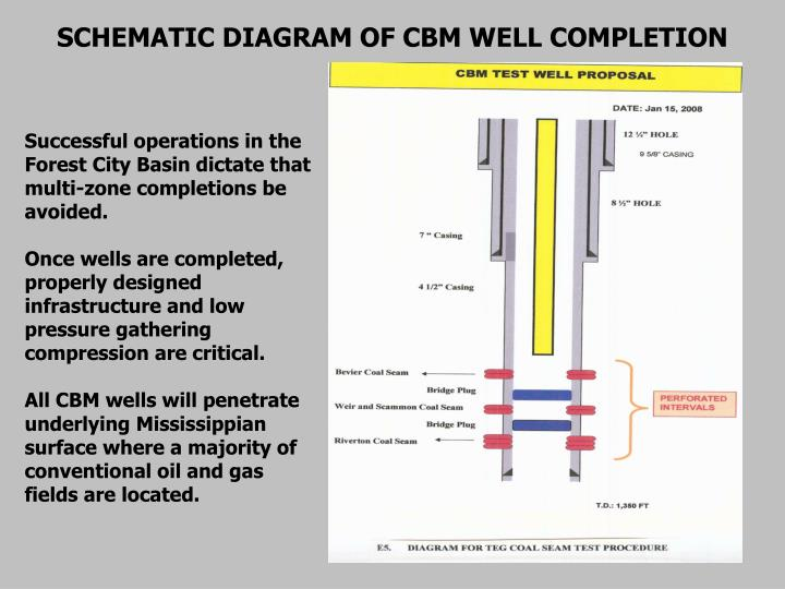 SCHEMATIC DIAGRAM OF CBM WELL COMPLETION
