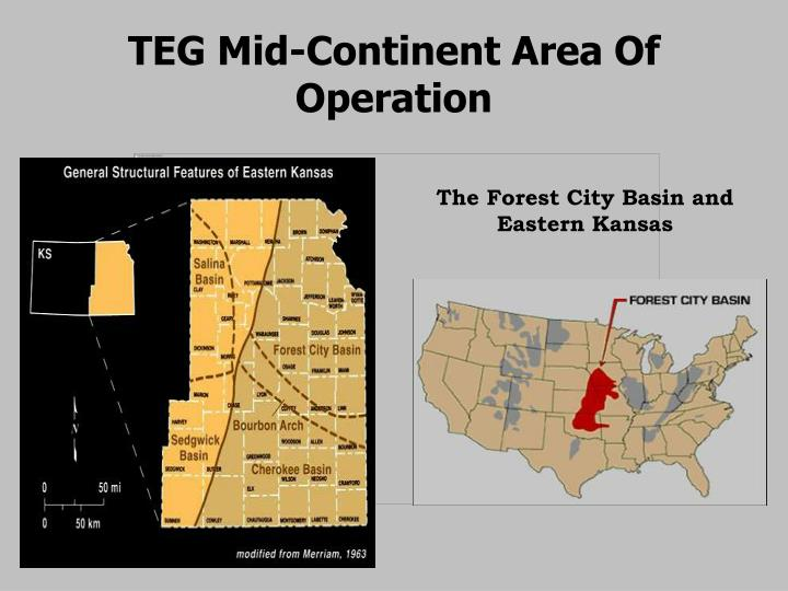 TEG Mid-Continent Area Of Operation
