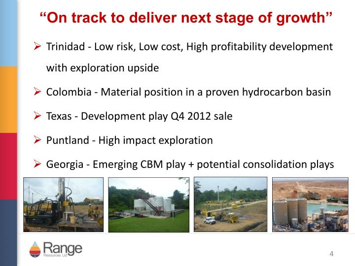 """On track to deliver next stage of growth"""