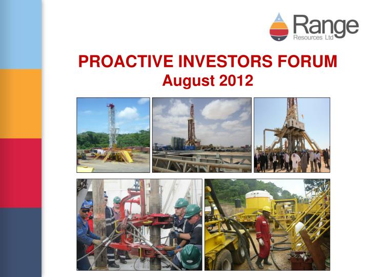 Proactive investors forum august 2012