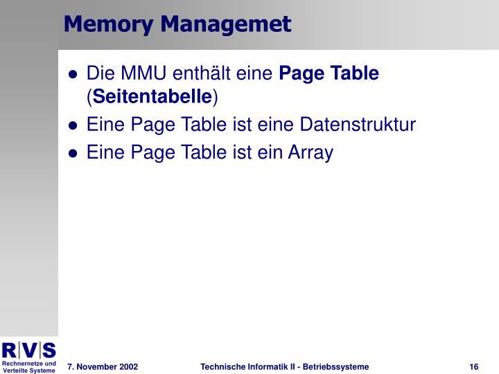 Memory Managemet