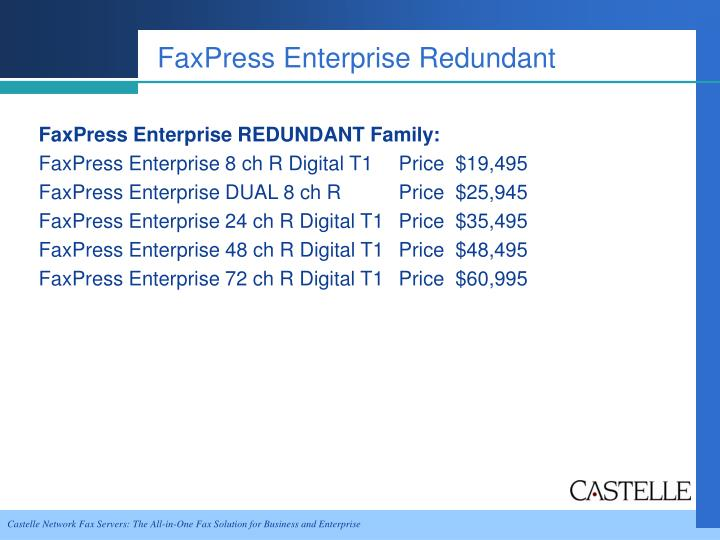 FaxPress Enterprise Redundant