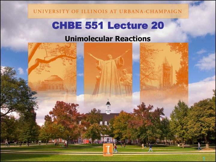 CHBE 551 Lecture 20