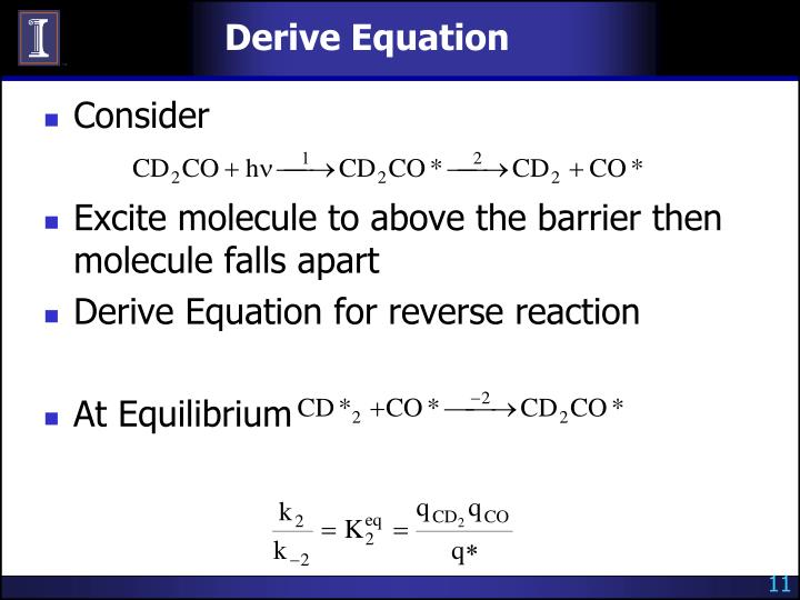 Derive Equation