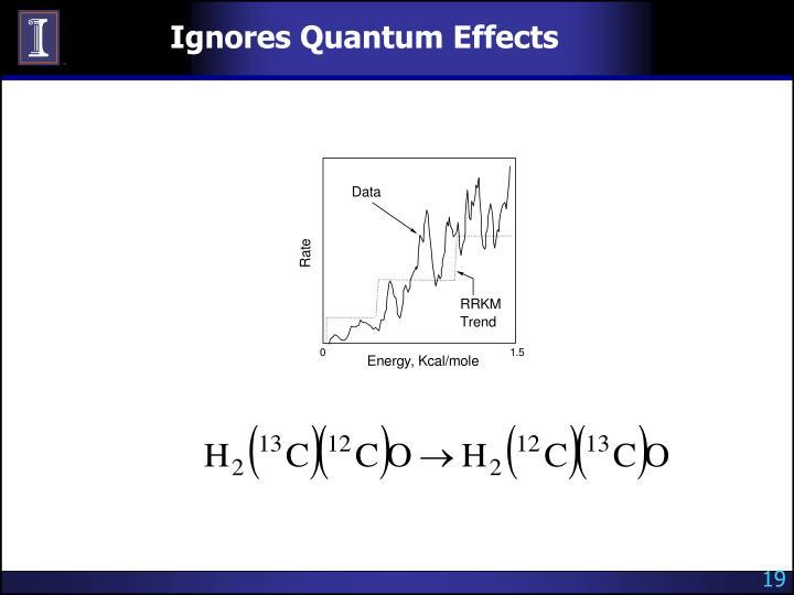 Ignores Quantum Effects