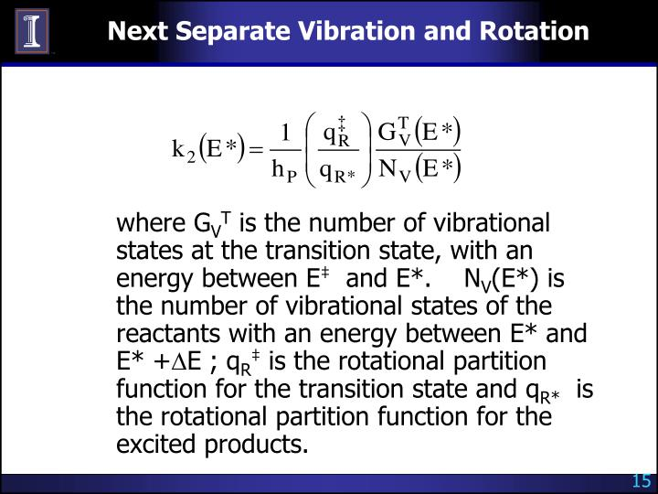 Next Separate Vibration and Rotation