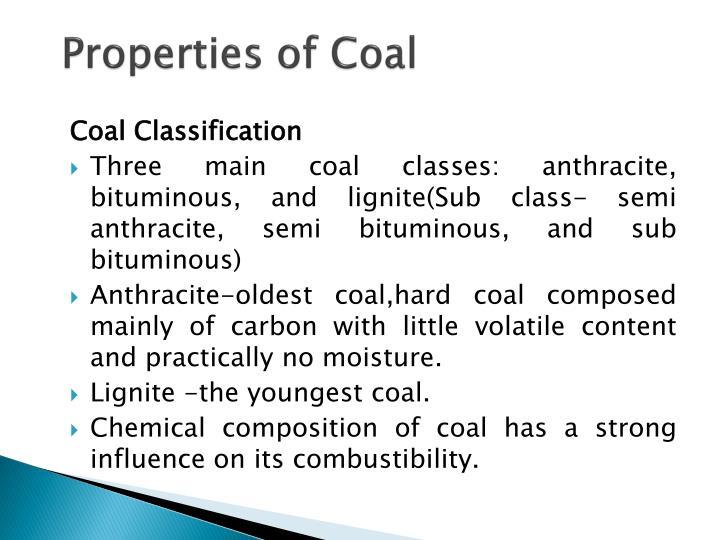 Properties of Coal