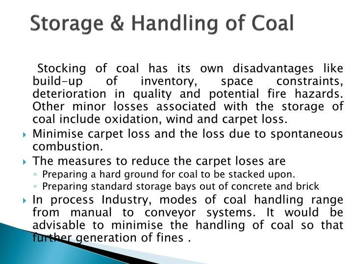 Storage & Handling of Coal