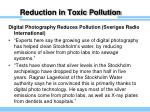 reduction in toxic pollution