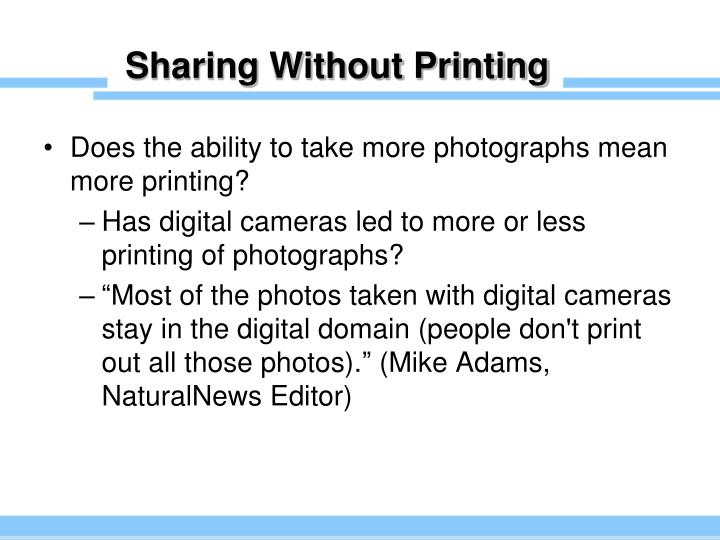 Sharing Without Printing