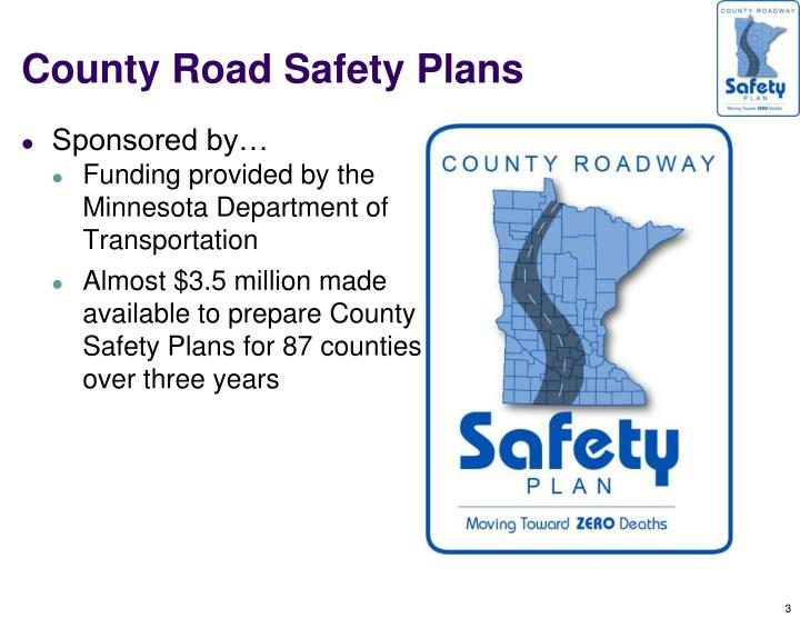 County road safety plans