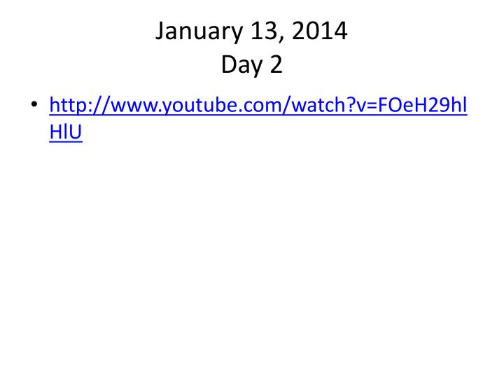 January 13,