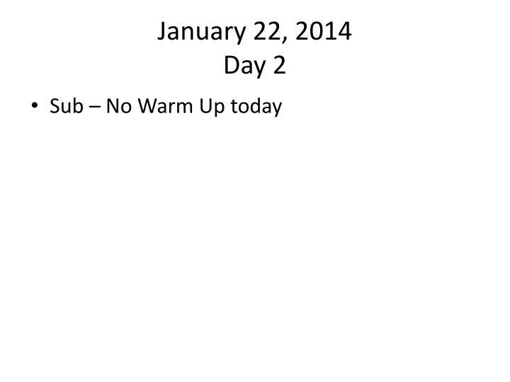 January 22,