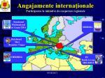 angajamente interna ionale participarea la ini iative de cooperare regionale