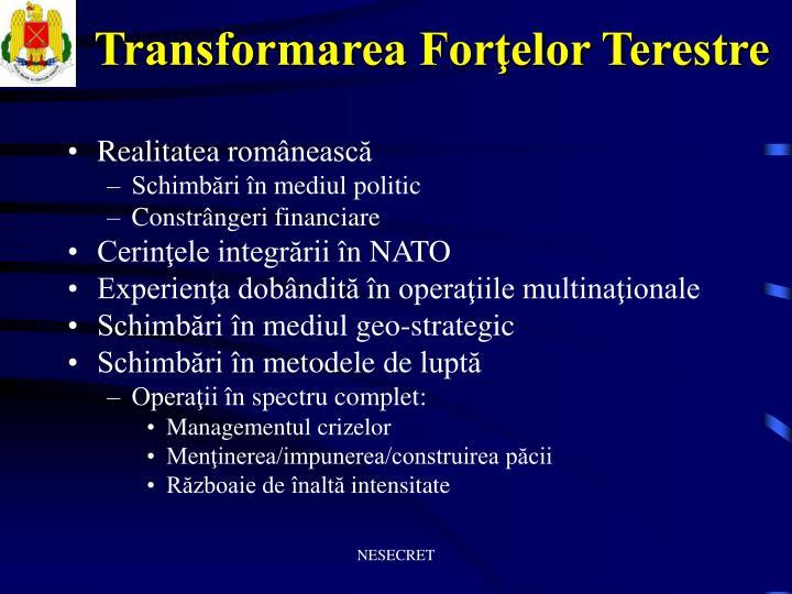 Transformarea Forţelor Terestre