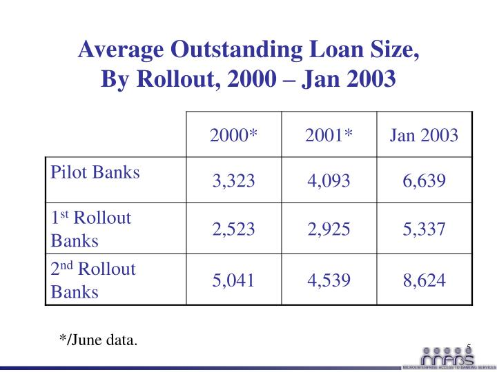 Average Outstanding Loan Size,