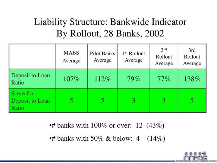Liability Structure: Bankwide Indicator