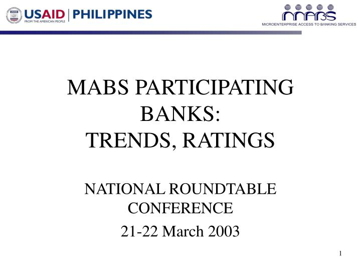 Mabs participating banks trends ratings