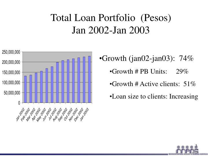 Total Loan Portfolio  (Pesos)