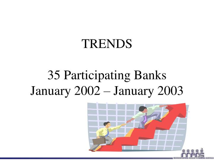 Trends 35 participating banks january 2002 january 2003