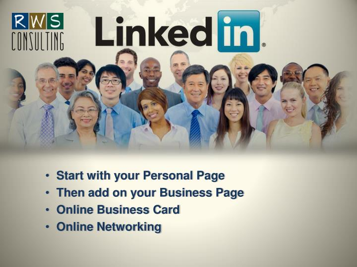 Start with your Personal Page