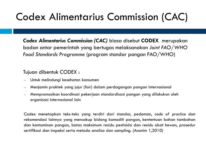 Codex Alimentarius Commission (CAC)