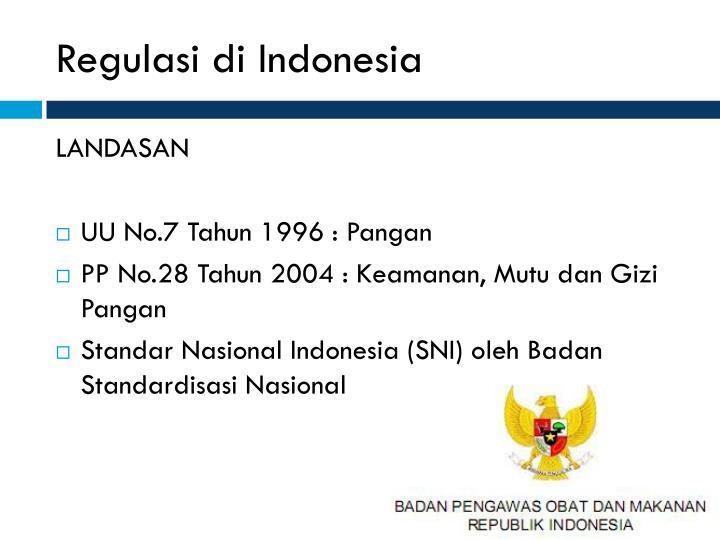 Regulasi di Indonesia