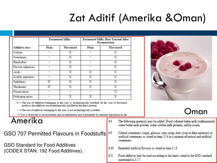 Zat Aditif (Amerika &Oman)