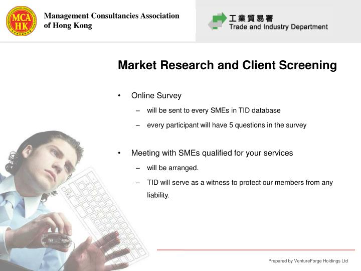 Market Research and Client Screening