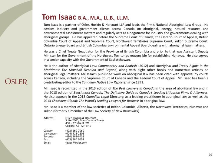 Tom Isaac