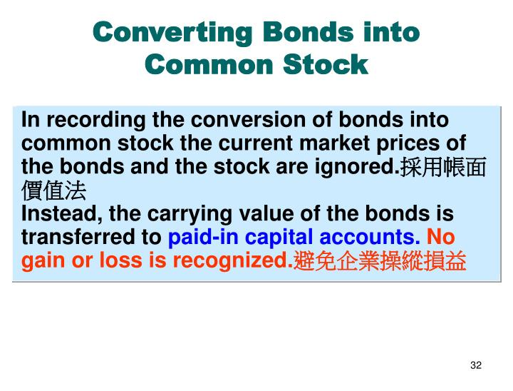 Converting Bonds into Common Stock