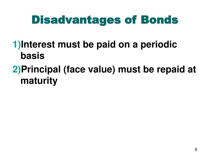 Disadvantages of Bonds