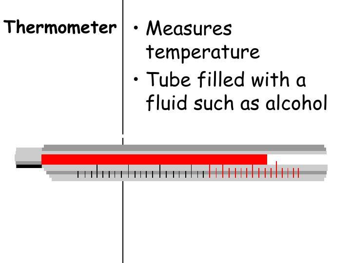 Measures temperature