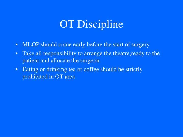 OT Discipline