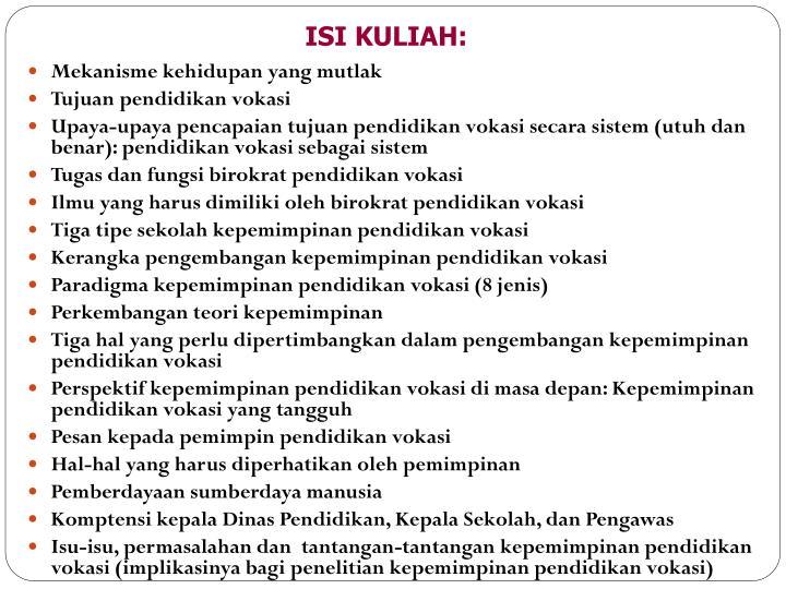 ISI KULIAH: