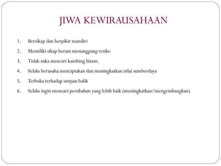 JIWA KEWIRAUSAHAAN