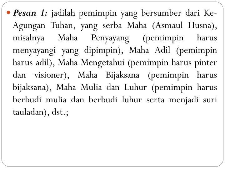 Pesan 1: