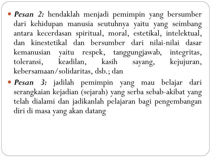 Pesan 2: