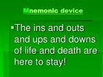 m nemonic device