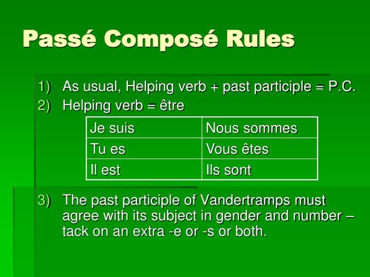 Passé Composé Rules