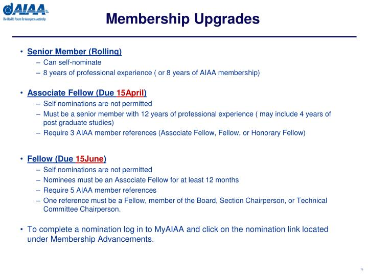 Membership Upgrades