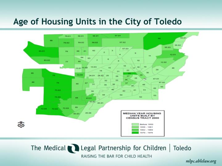 Age of Housing Units in the City of Toledo