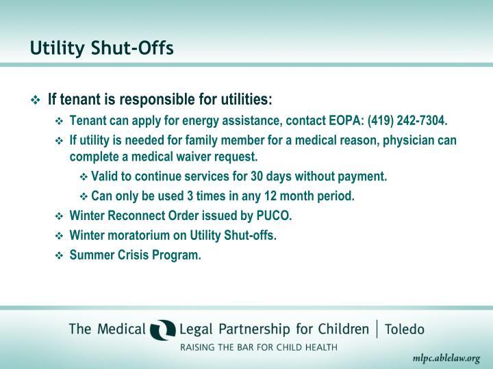 Utility Shut-Offs
