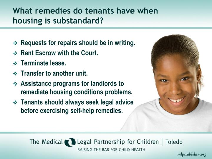 What remedies do tenants have when